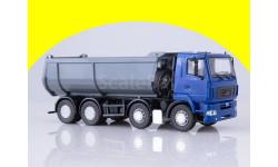 МАЗ-6516 самосвал, U-образный кузов (синий-серый) 101388.синсер, масштабная модель, 1:43, 1/43, Автоистория (АИСТ)