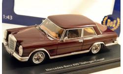 Mercedes-Benz 600 Nallinger Coupe 1963 (dark red) 1/43, масштабная модель, 1:43, BOS