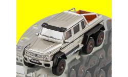 Mercedes-Benz G63 AMG W463 6x6 (grey metallic) GLM, масштабная модель, 1:43, 1/43