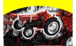 Massey Fergusson MF 135 (Traktor 1965 ) grau НЕМЕЦКАЯ новая журналка  Hachette 1:43