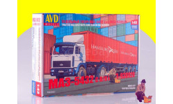 Сборная модель МАЗ-5432 с полуприцепом-контейнеровозом МАЗ-938920 7042 AVD, сборная модель автомобиля, 1:43, 1/43, Автомобиль в деталях (by SSM)