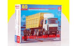 Сборная модель МАЗ-6422 с полуприцепом МАЗ-9506-30 AVD Models KIT, сборная модель автомобиля, 1:43, 1/43, Автомобиль в деталях (by SSM)