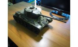 Танк Т-34 1/16, заводская модель, антиквариат