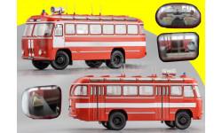 Павловский Автобус 652Б, Пожарная охрана, с полосами. Dip Models 165224