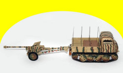 RSO TRACKED VEHICLE WITH PaK 40 75mm GUN, Atlas? Tracteur D'Artillerie 1/43
