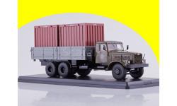 КРАЗ-257Б1 бортовой с контейнерами SSM1149, масштабная модель, 1:43, 1/43, Start Scale Models (SSM)