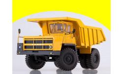 102385 Карьерный самосвал БЕЛАЗ-7522 поздний, жёлтый, масштабная модель, 1:43, 1/43, Автоистория (АИСТ)