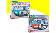 Сборная модель ПАЗ-32051 городской + пригородный  ПАЗ-3205 4040AVD+4027AVD, сборная модель автомобиля, AVD Models, scale43