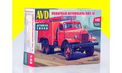Сборная модель Пожарный автомобиль ПМЗ-16 кит АВД 1327AVD, сборная модель автомобиля, scale43, AVD Models, ЗИЛ
