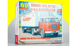 Сборная модель SKODA-706 MTTN с полуприцепом ALKA-N12CH 7067AVD, сборная модель автомобиля, 1:43, 1/43, AVD Models, Škoda