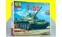 Сборная модель Средний танк Т-55 3018AVD, сборные модели бронетехники, танков, бтт, AVD Models, scale43