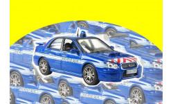 Subaru Impreza полиция Франции ПММ № 4, масштабная модель, Hachette, scale43