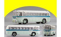 ЗИЛ-127 1958 г. маршрут «пл. Революции - Внуково» светло-зеленый с бежевым и синей полосой, масштабная модель, DiP Models, scale43