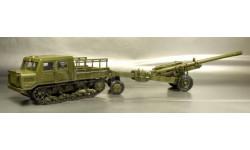 АТ-С 712 с пушкой М-46, масштабные модели бронетехники, 1:43, 1/43, Миниград