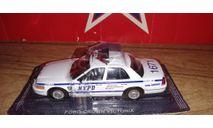 Ford crown victoria NYPD, журнальная серия масштабных моделей, PCT, scale43