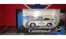 Porsche 356B polizei, масштабная модель, Bauer/Cararama/Hongwell, scale43