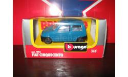 FIAT Cinquecento, масштабная модель, 1:43, 1/43, Bburago old