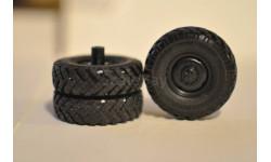Комплект колес УРАЛ (диски без подкачки), запчасти для масштабных моделей, Харьковская резина, 1:43, 1/43