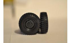 Комплект колес УРАЛ 377, запчасти для масштабных моделей, Харьковская резина, 1:43, 1/43