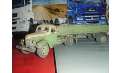 ЗИС 120 и ОдАЗ 885 СарЛаб со следами эксплуатации плиты в кузове, масштабная модель, 1:43, 1/43
