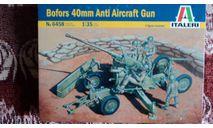 Italeri Bofors AA Gun with servants, сборные модели артиллерии, scale35