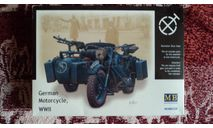 Немецкий мотоцикл BMW Master Box 03528, сборная модель мотоцикла, scale35