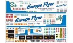 Декали на грузовик Europe Flyer - А4 - 1:43