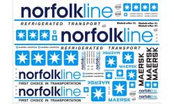 Декали на грузовик NorfolkLine - А4 - 1:43