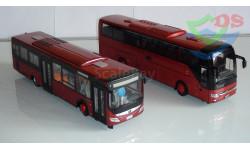 Автобусы Yutong одним лотом. Туристический и городской. Автобус Yutong. Югтонг., масштабная модель, Chinabus, 1:43, 1/43