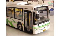 1/43 Автобус VOLVO SUNWIN BUS  (Белый с зелёными линиями) ВОЛЬВО городской, масштабная модель, China Promo Models, 1:43