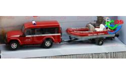 1/43 Пожарный внедорожник Mondo Iveco Massif  (с штурмовой лодкой)