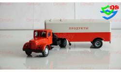 МАЗ-200В с полуприцепом НАМИ-5217, (белый/красный) 1:43 Автоистория (АИСТ)