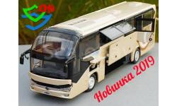 Новинка 2019. Автобус Yutong ZK6128HQB туристический Ютонг, масштабная модель, China Promo Models, 1:43, 1/43