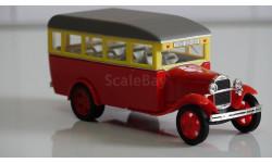 ГАЗ 03-30 автобус (красный двухцветный) 1/43 Н651b