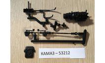 Двигатель+Карданы+Радиатор+Рычаг КПП - КАМАЗ-53212, запчасти для масштабных моделей, AVD Models, scale43