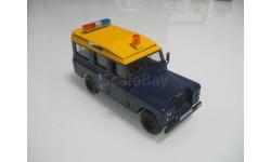 Land Rover series III 109 полиция, масштабная модель, Полицейские машины мира, Deagostini, scale43