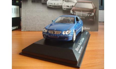 Mercedes - Benz  CLK Klass  Coupe  w 209   2002 год, масштабная модель, 1:43, 1/43, Minichamps, Mercedes-Benz