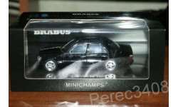 BRABUS 6.5 (Mercedes-Benz 500E W124) 1989 черный minichamps