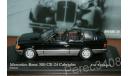 Mercedes-Benz 300 CE-24 Cabriolet 1990 черный minichamps, масштабная модель, scale43