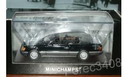 Mercedes-Benz 300 CE-24 Cabriolet 1990 черный minichamps