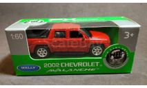 Автомобиль Chevrolet Avalanche 2002, масштабная модель, Welly, 1:64, 1/64