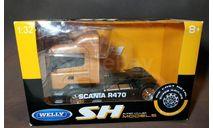 Cедельный тягач Scania R470, масштабная модель, Welly, 1:32, 1/32