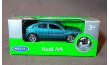 Легковой автомобиль Audi A4, масштабная модель, Welly, 1:64, 1/64