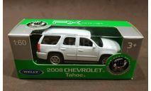 Автомобиль Chevrolet Tahoe 2008, масштабная модель, Welly, 1:64, 1/64