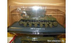 Танки. Легенды отечественной бронетехники №5 - Танк КВ-2, масштабные модели бронетехники, DeAgostini (военная серия), scale43