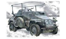 72421 Sd.Kfz.223, Немецкий подвижный пункт связи, бронеавтомобиль ICM 1:72, сборные модели бронетехники, танков, бтт, scale72