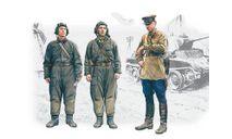 Советский танков. экипаж, 1939-1942, фигуры. 1:35 ICM, миниатюры, фигуры, scale35