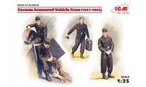 Фигуры Германский экипаж бронеавтомобиля (1941-1942 г.), (4 фигуры и кот) 1:35 ICM, миниатюры, фигуры, scale35