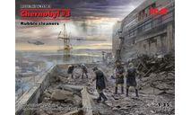 35903 Фигуры, Чернобыль №3. «Чистильщики» (5 фигур) ICM 1:35, миниатюры, фигуры, scale35