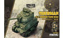 WWT-002 World War Toons Sherman U.S. Medium Tank M4A1 Meng Model, сборные модели бронетехники, танков, бтт, scale0